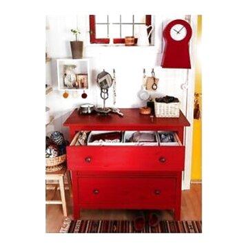 Ikea Hemnes Cassettiera Con Specchio.Cassettiera Hemnes Rossa Usato In Italia Vedi Tutte I 1 Prezzi