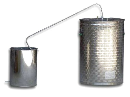 distillatore grappa acciaio usato