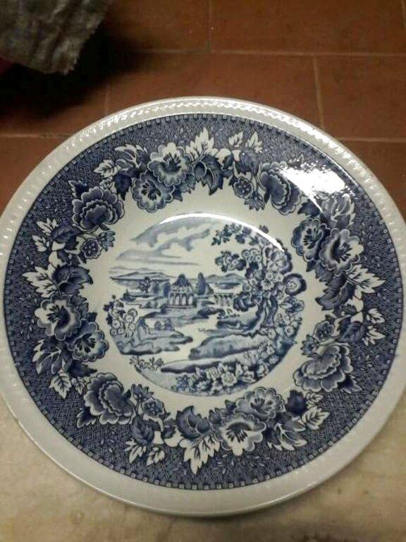 Set servizio di piatti antichi inglesi in ceramica Keeling /& Co piatto piano
