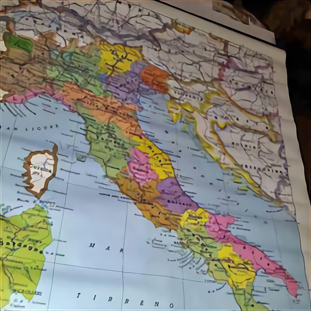 Cartina Italia Politica In Vendita.Carta Geografica Italia Usato In Italia Vedi Tutte I 40 Prezzi