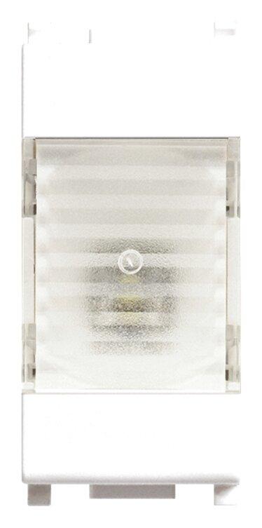 Segnapasso crepuscolare modulare 1 Led incasso 220 230 V Vimar Plana Bianco
