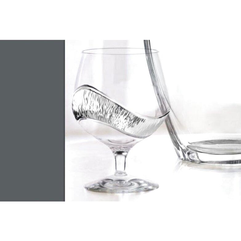 bicchieri cristallo argento usato