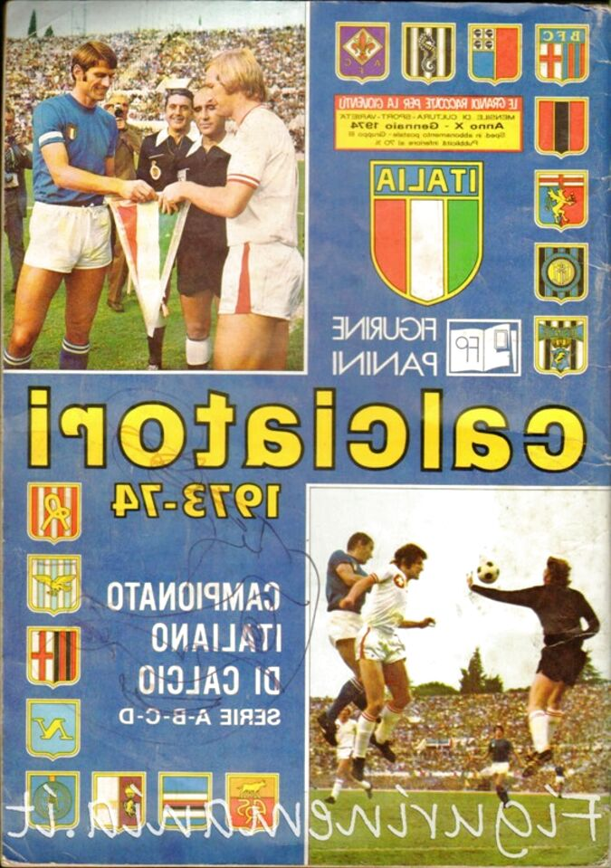 ALBUM CALCIATORI RISTAMPA L/'UNITA/' ANNO 1973-74