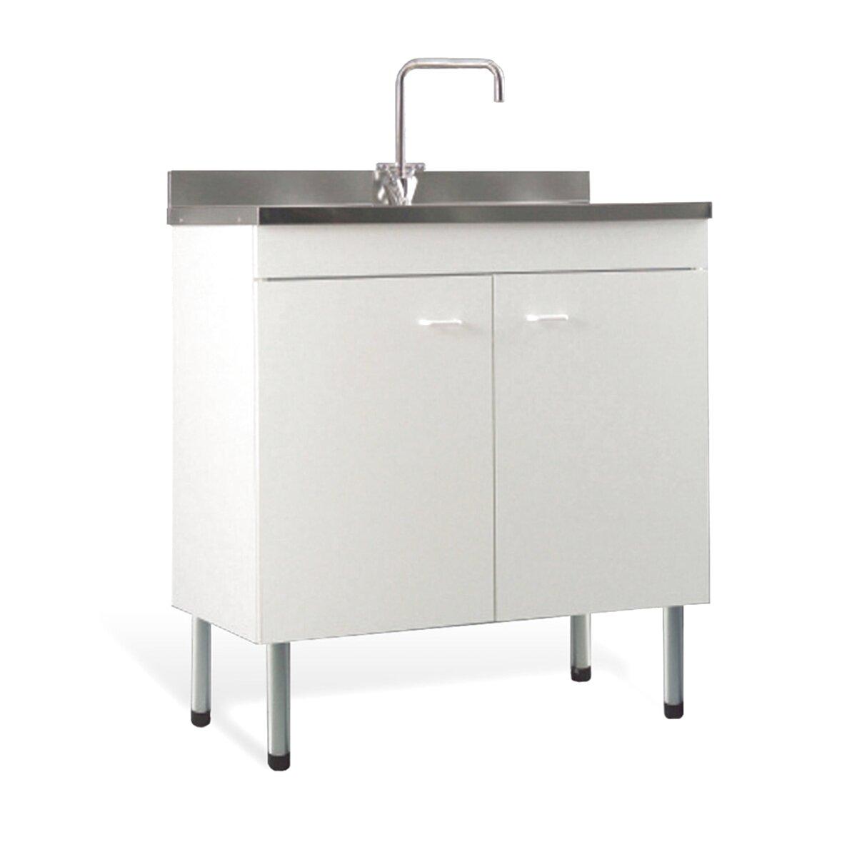 Mobile Per Lavabo Cucina mobile per cucina sottolavello bianco due ante rev