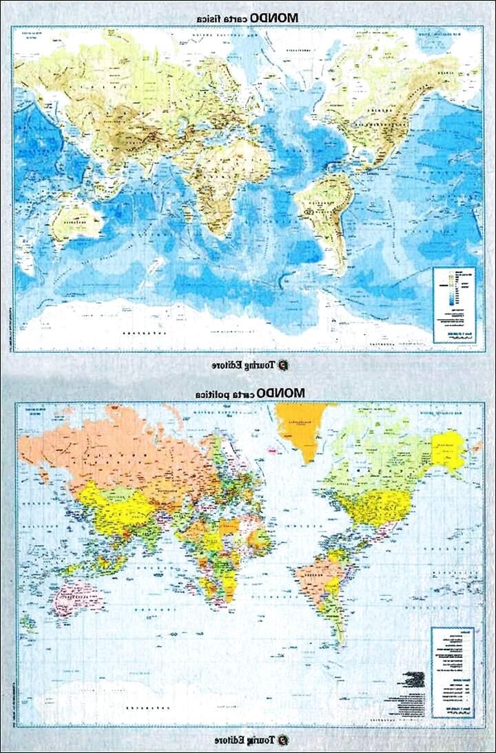 Cartina Mondo Touring.Carta Geografica Mondo Gigante Usato In Italia Vedi Tutte I 16 Prezzi