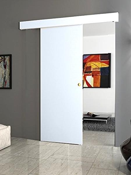 Porta scorrevole esterno muro Bianca/Noce/Wengècom