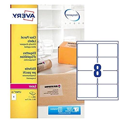 Stile B Trasparente 2000 Pezzi Chiaro Pacchetto di Vendita al Dettaglio Rotondo Chiaro Sigillo Etichette Adesivi Sticker Rotondo Busta Adesivi
