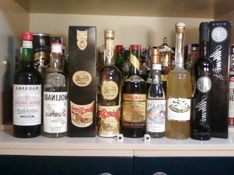 bottiglie liquore collezione usato