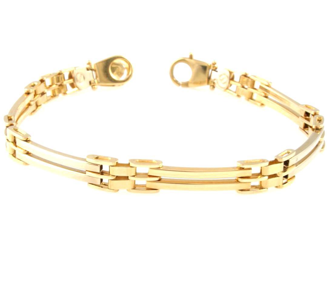 vendita calda online 677dc 530b7 bracciale uomo oro 18 kt