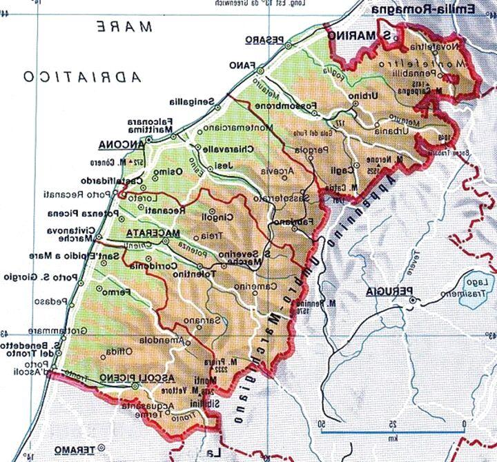 Marche Cartina Geografica Politica.Carta Geografica Marche Usato In Italia Vedi Tutte I 41 Prezzi