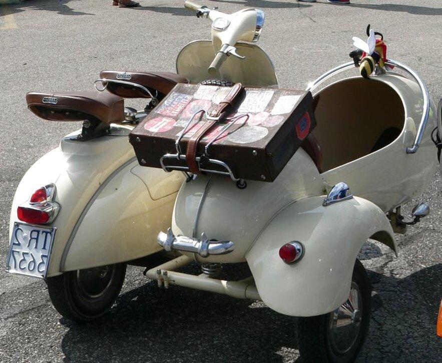 moto sidecar vespa usato