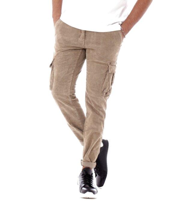 pantaloni cargo velluto uomo usato