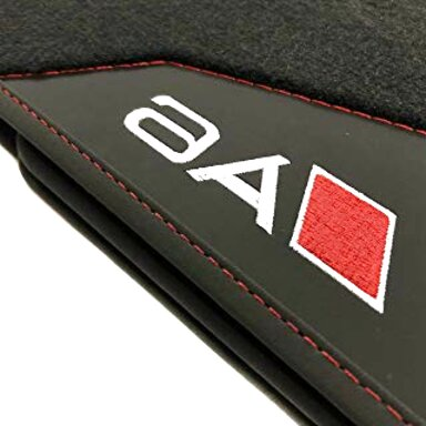 Tappetini AUDI q7 4l originale qualità velluto tappetini S-LINE Pelle Tappeto