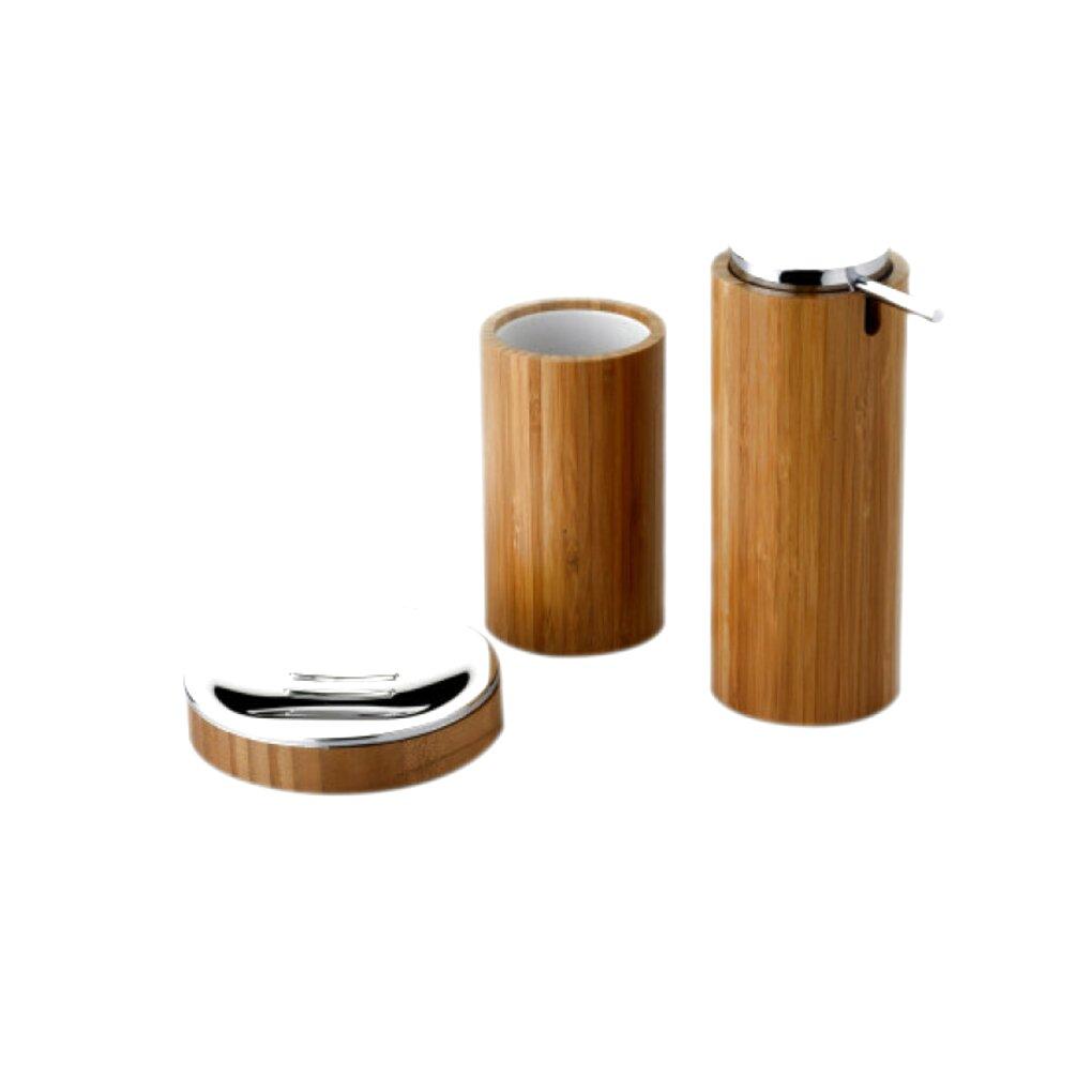 accessori bagno legno