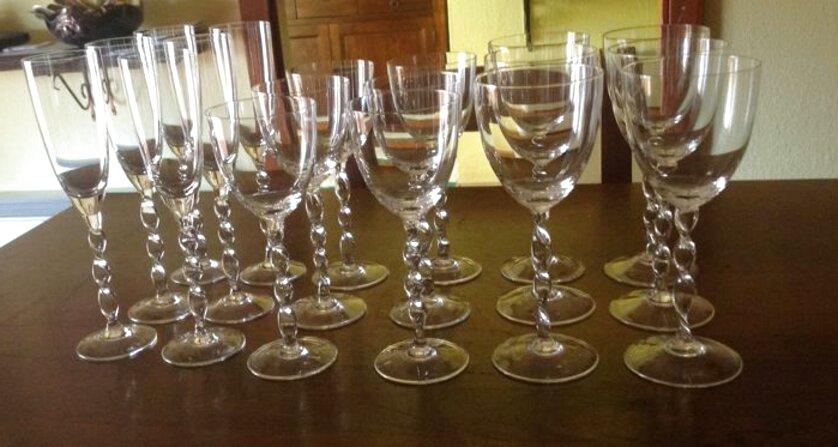 servizio bicchieri cristallo richard ginori usato