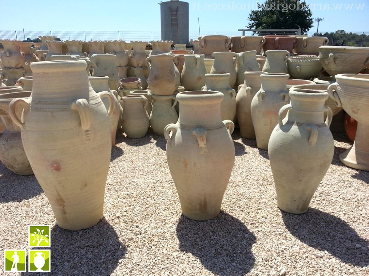 Fioriere Da Esterno In Cemento vaso calice anfora orcio in cemento marmo pietra no gesso