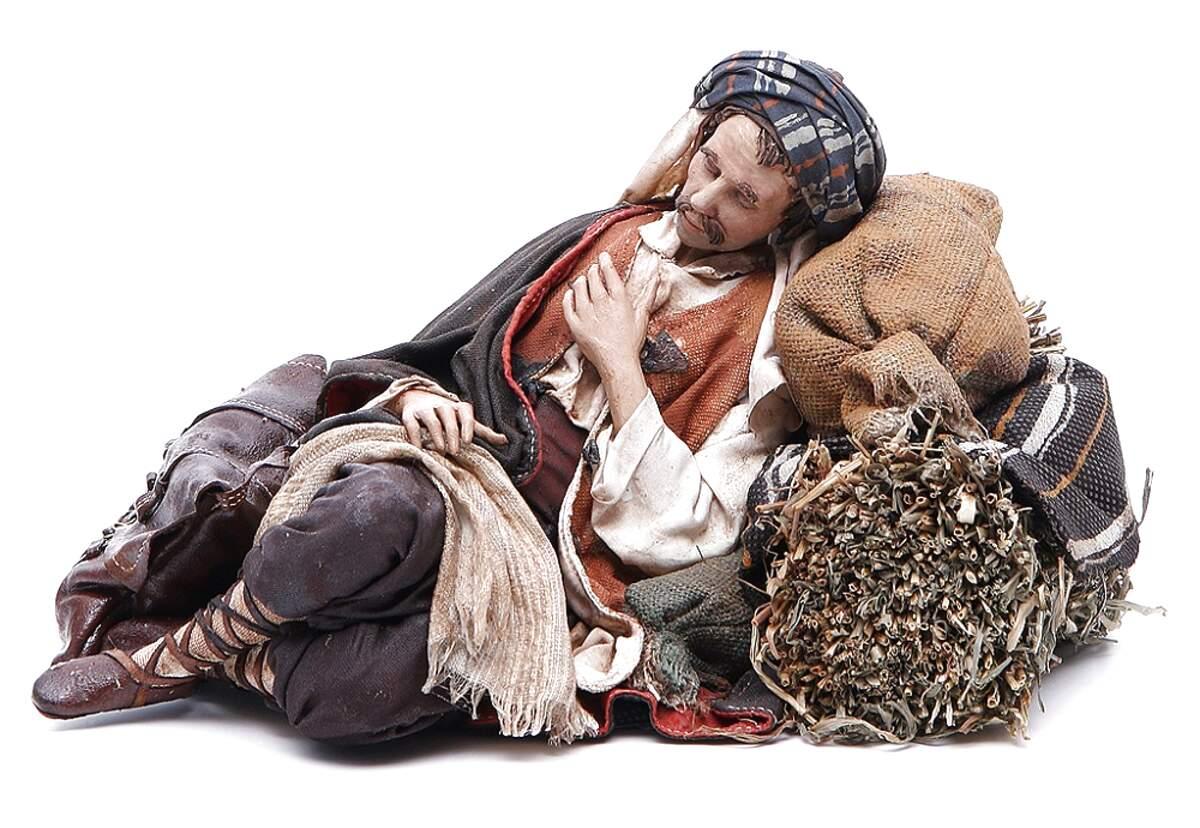 1 pastore landi 13 cm benino dorme Benito presepe crib shereped