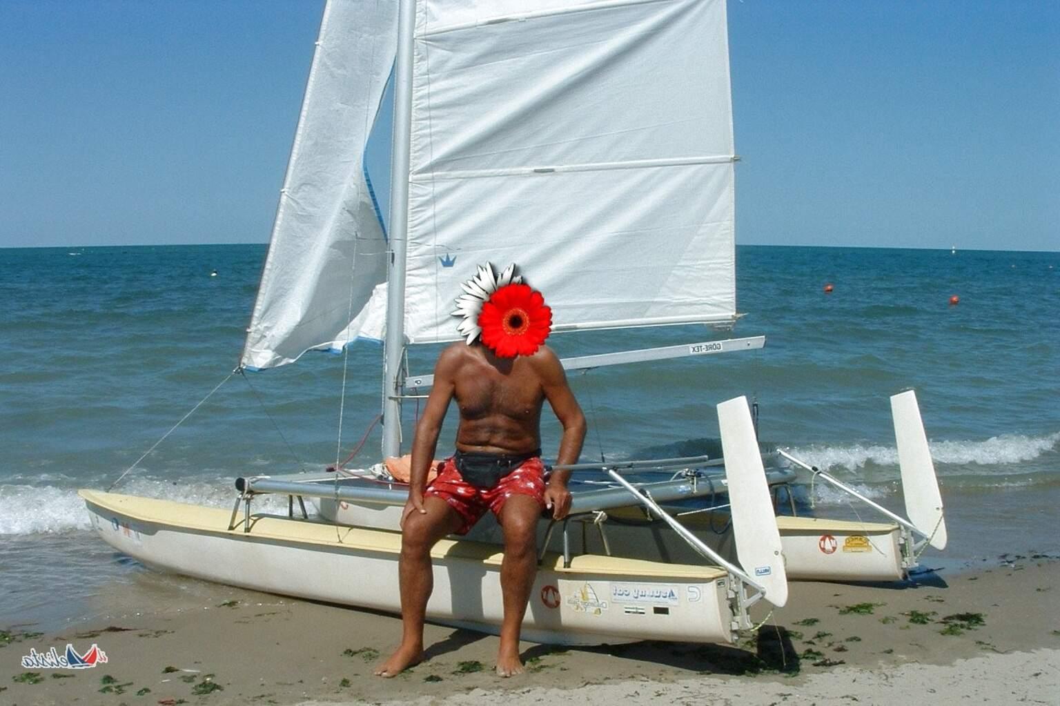 telo copri barca catamarano usato