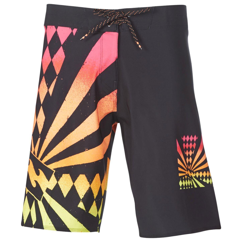 BILLABONG Rising Sun Costumi da Bagno Hommes Nero//Arancio Costume//Bermuda da Spiaggia