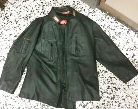 ORIGINALE Giacca in pelle polizia NERO VERA PELLE giubbotto giacca moto 46-62