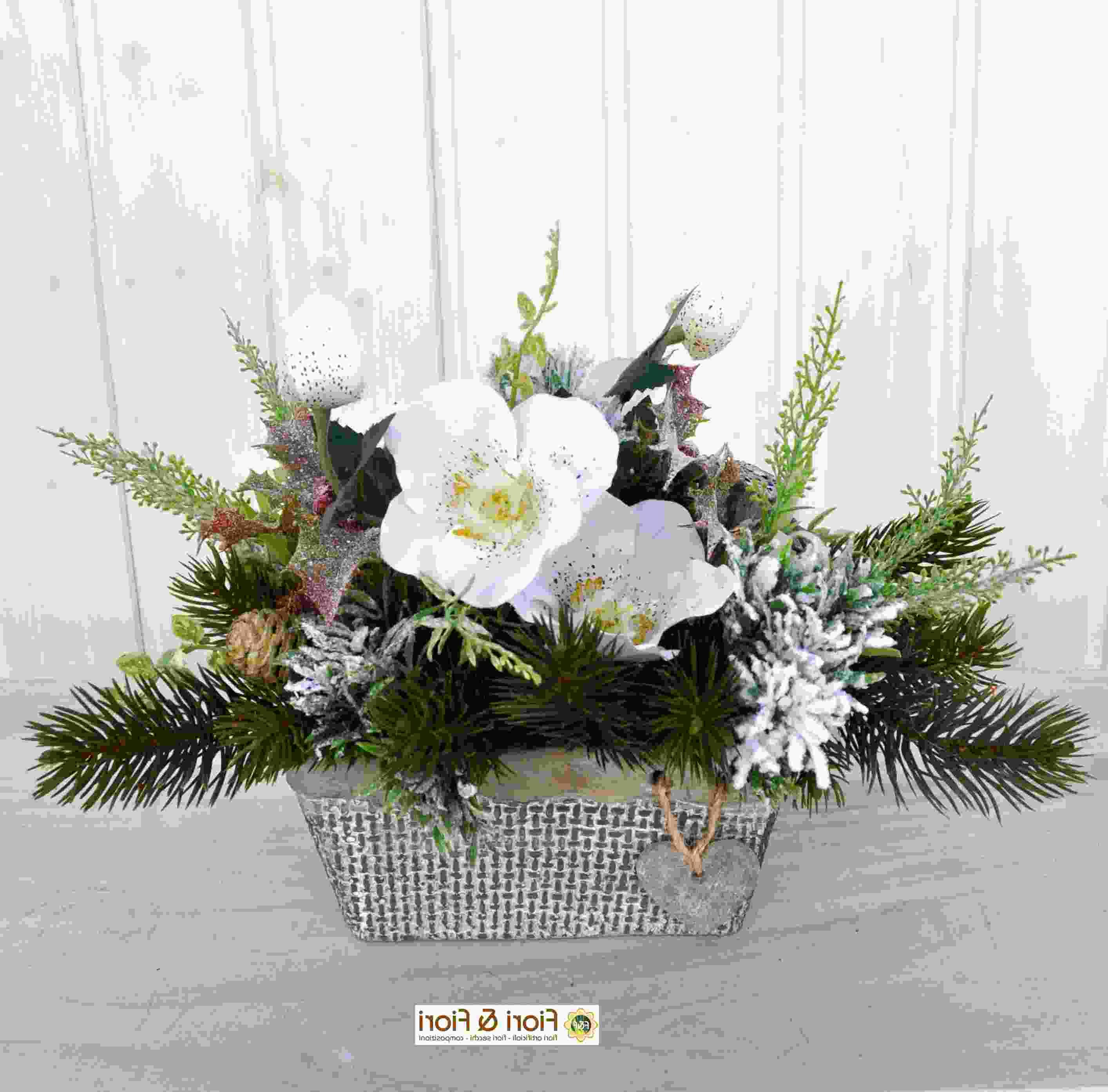 Vaso Con Ortensie Finte composizione fiori