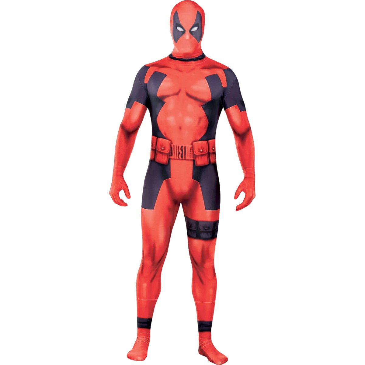 DEADPOOL Maschera Cosplay Halloween Costume Lycra Spandex Maschera Adulto Rosso//Nero Taglie