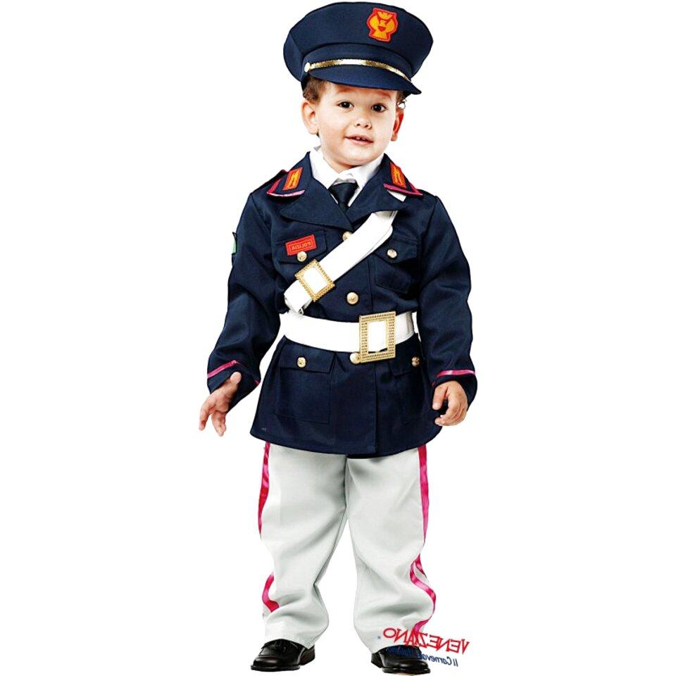 Costume Carnevale Bimbo Police Ragazzo Poliziotto PS 22955