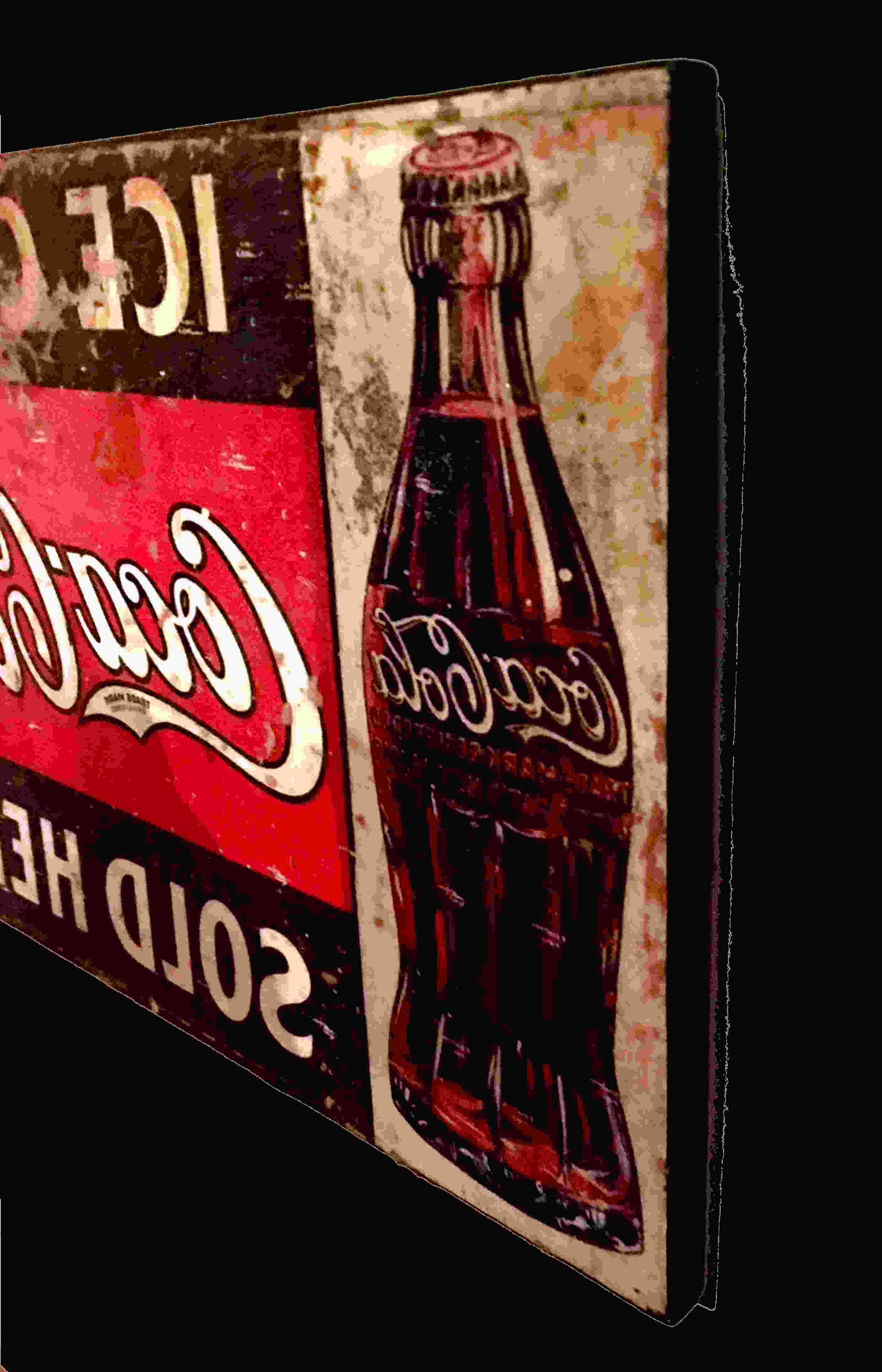 Quadro stampa su Canvas arredo moderno con telaio in legno LICHTENSTEIN CocaCola