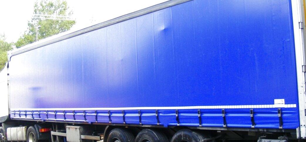 Set 4 pezze adesive per teloni camion Trasparente