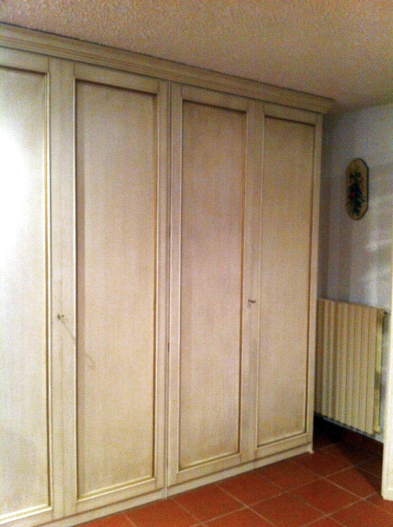 Esidra, Armadio 4 Ante e 3 cassetti, 154x50x200cm