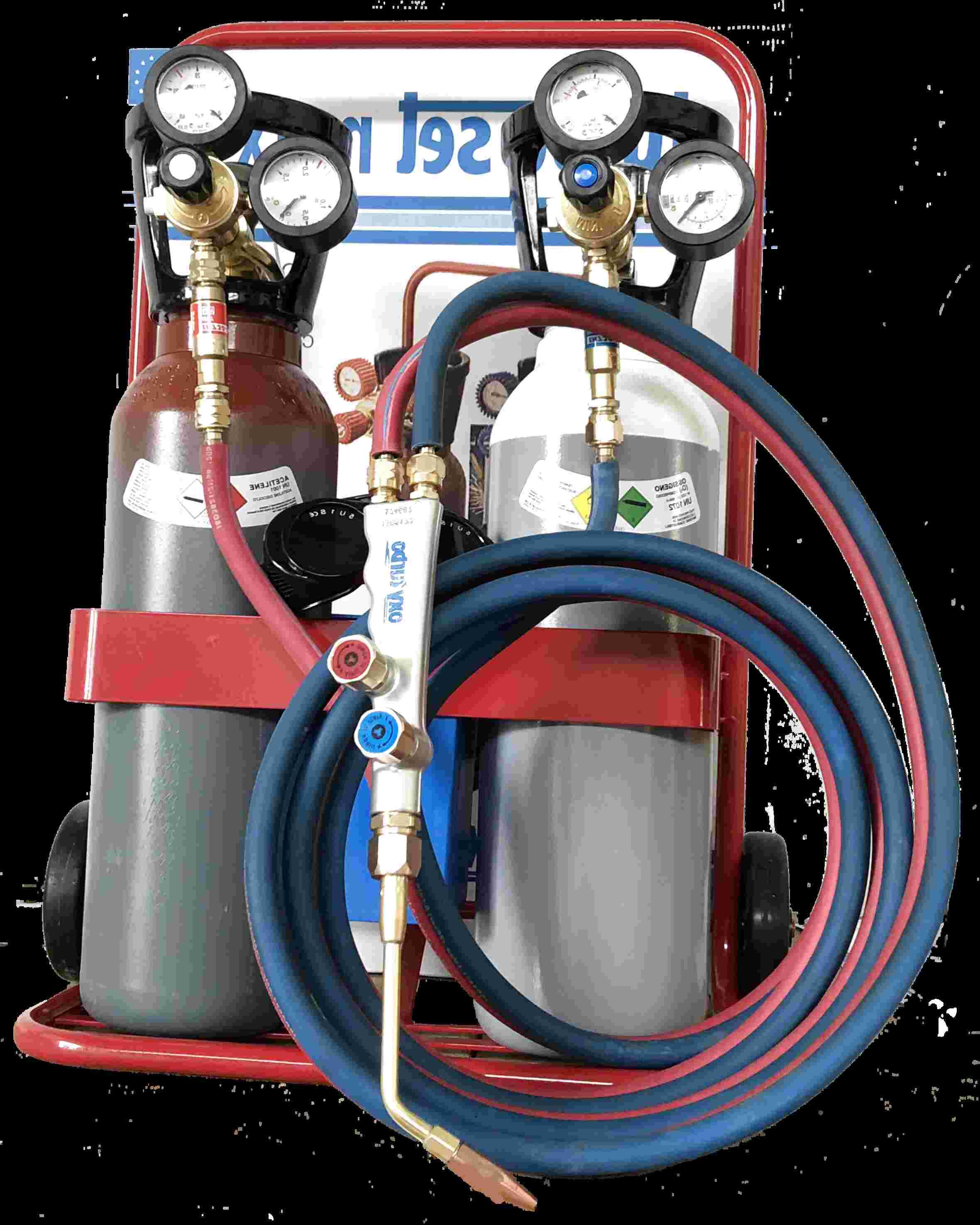 saldatrice Vintage acetilene ossigeno con bombola e cannelli  anno 1966