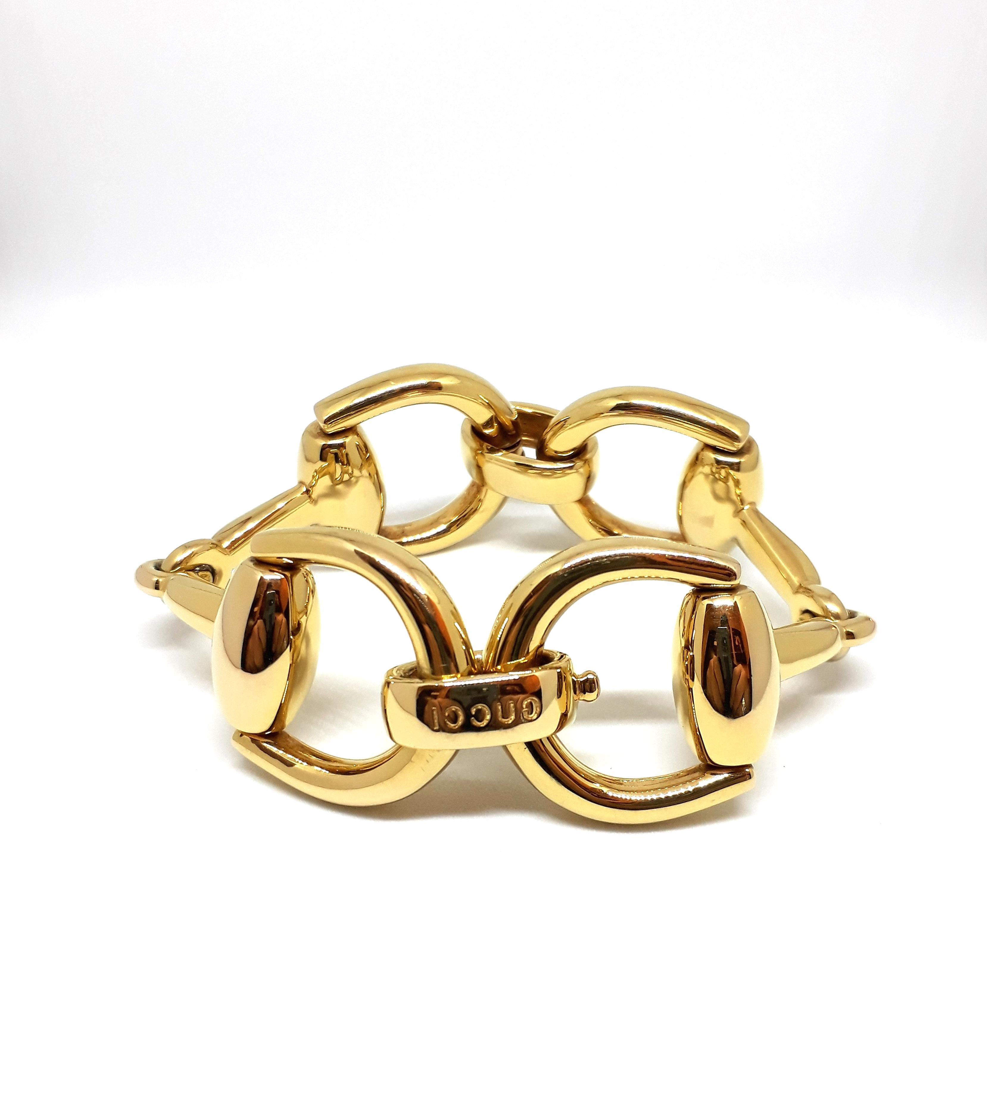 bracciale gucci oro usato