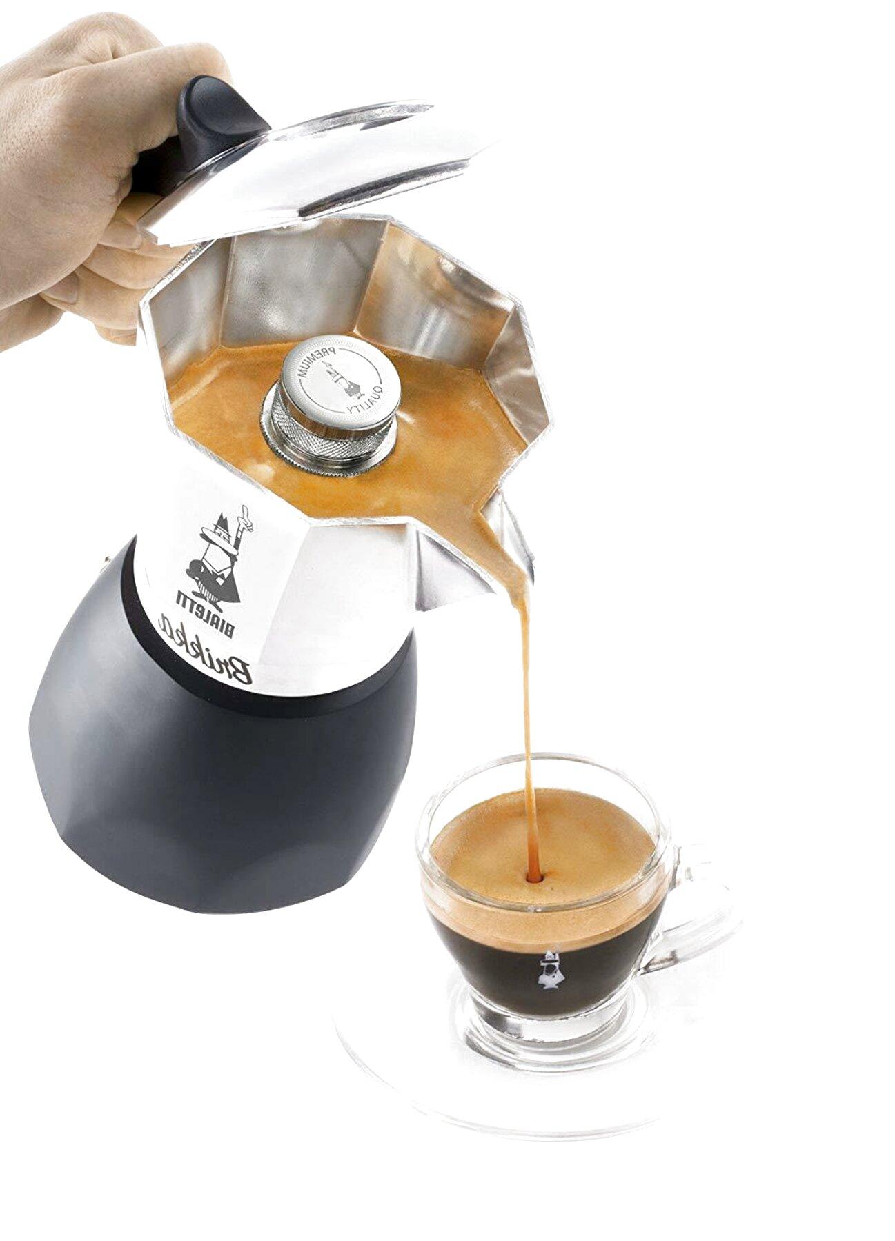 ECCEZIONALE CAFFETTIERA per caffè ESPRESSO come al bar BIALETTI BRIKKA