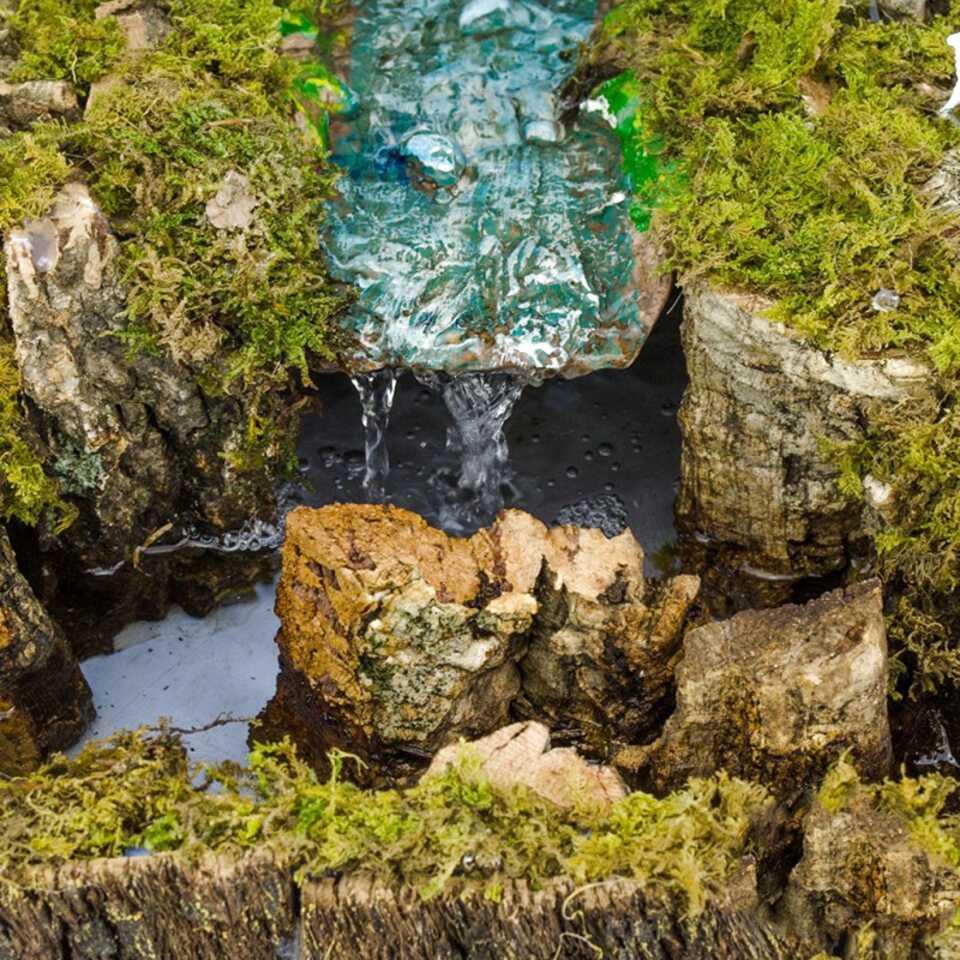 Cascata Fiume Presepe Letto per Costruire Ruscello 12 x 27 Cm