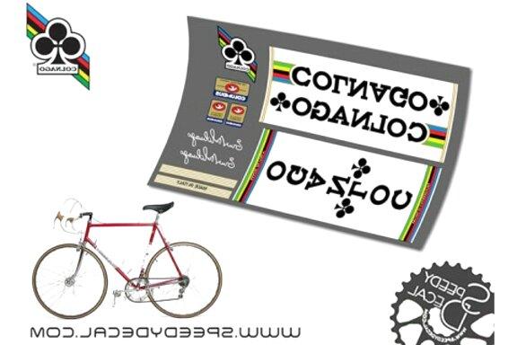 Kit adesivi Colnago colori a scelta anche fluo 16pz bicicletta mtb bdc