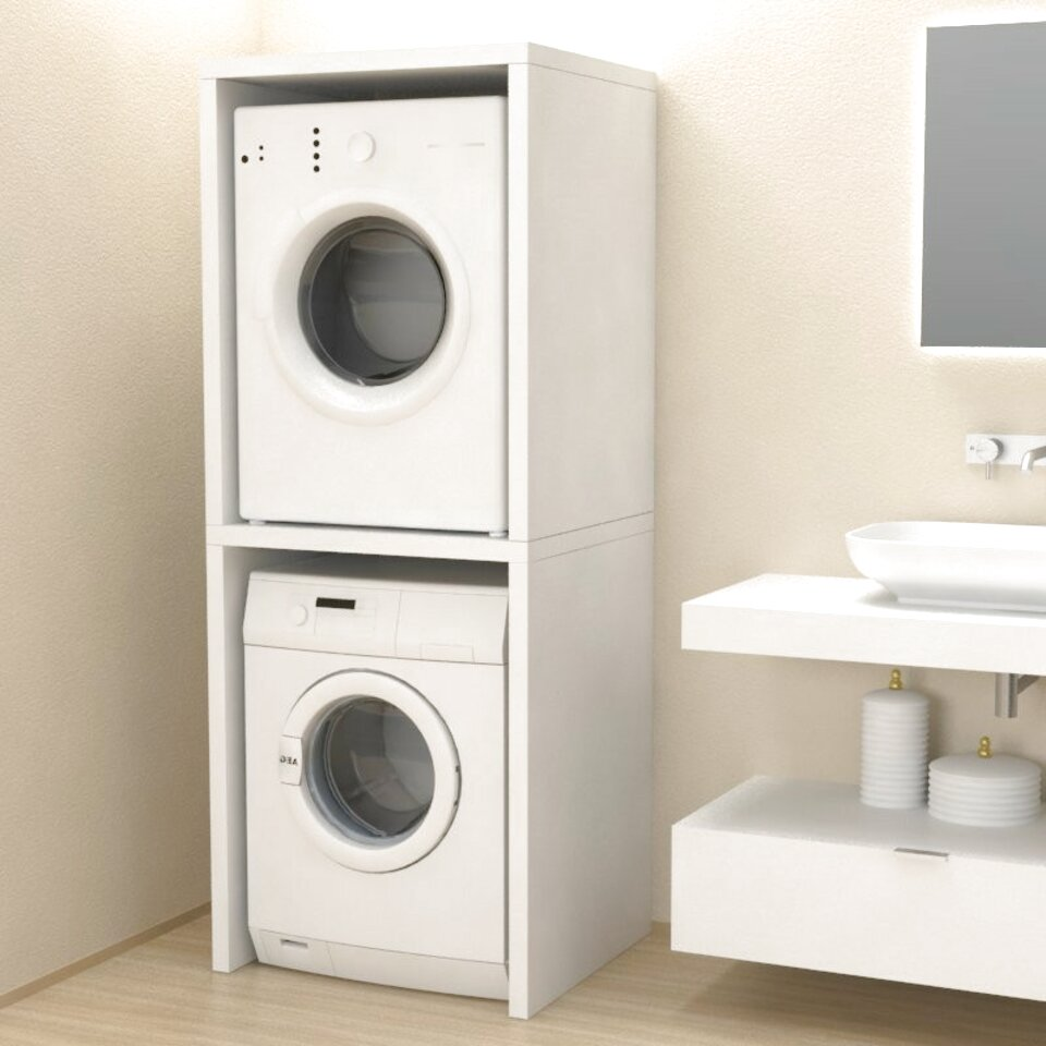 Colonna Per Lavatrice E Asciugatrice mobile colonna coprilavatrice/asciugatrice bianco