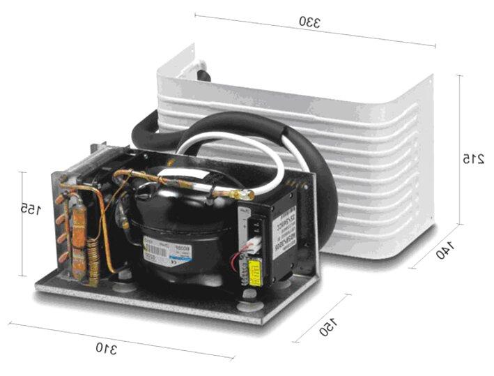 120 freezer Compressore frigo completo 12//24 volt  250 litri frigo
