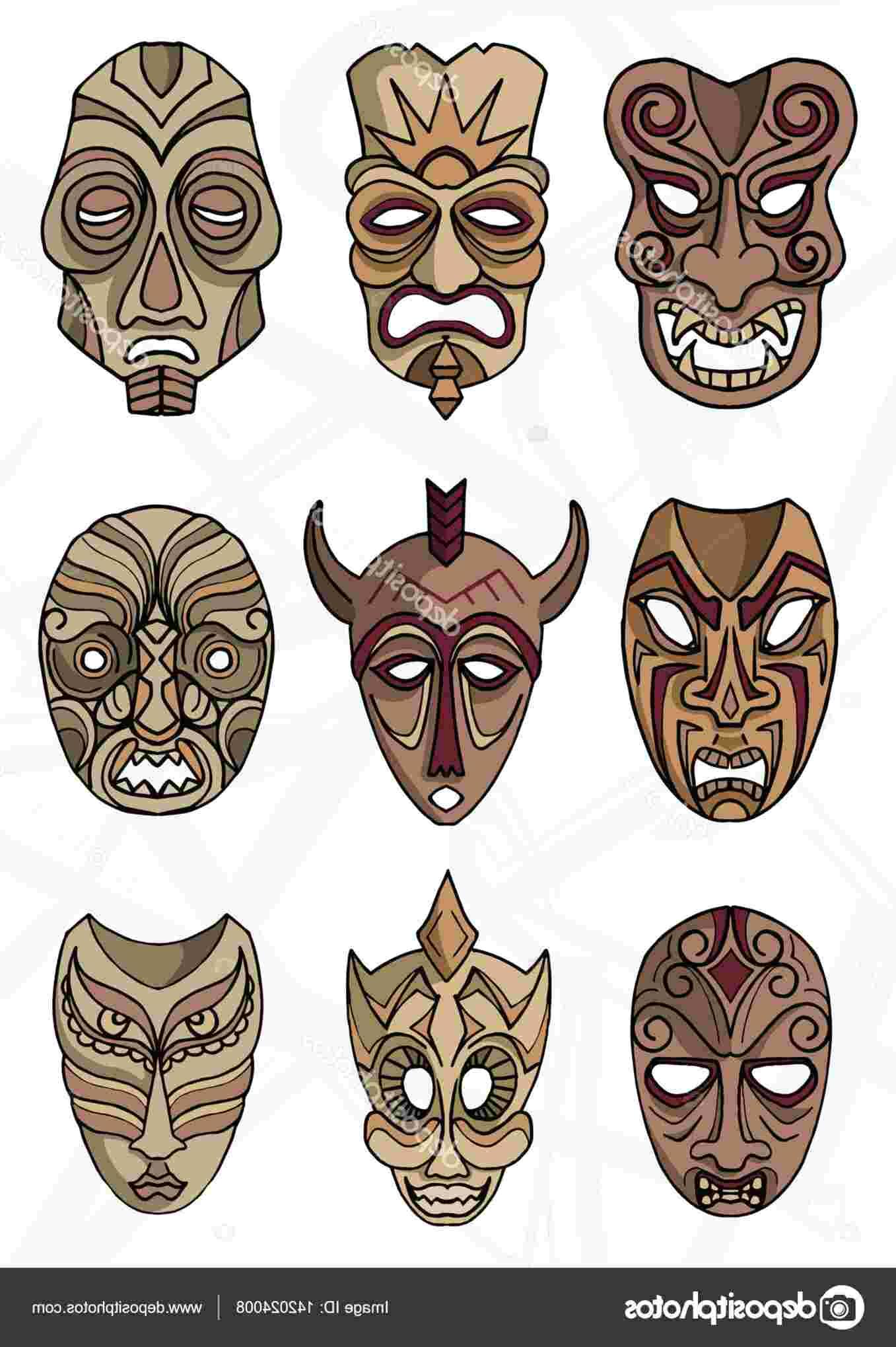maschere etniche usato