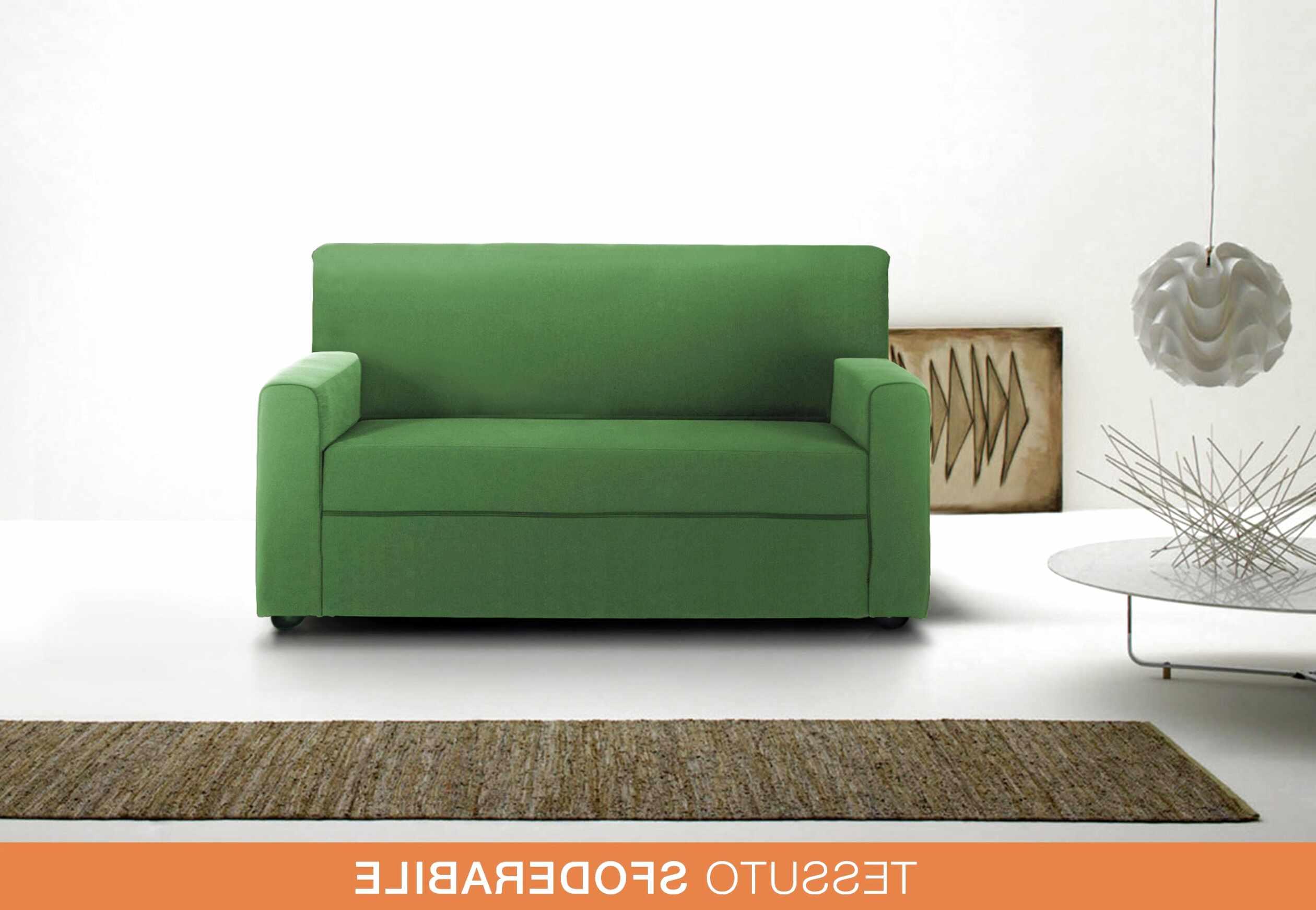 divano letto 2 posti tessuto