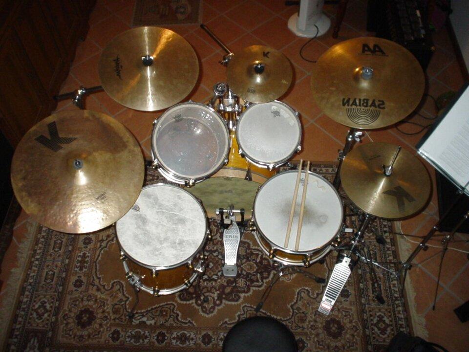 batteria acustica tamburo usato