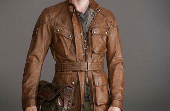 giacca moto belstaff usato