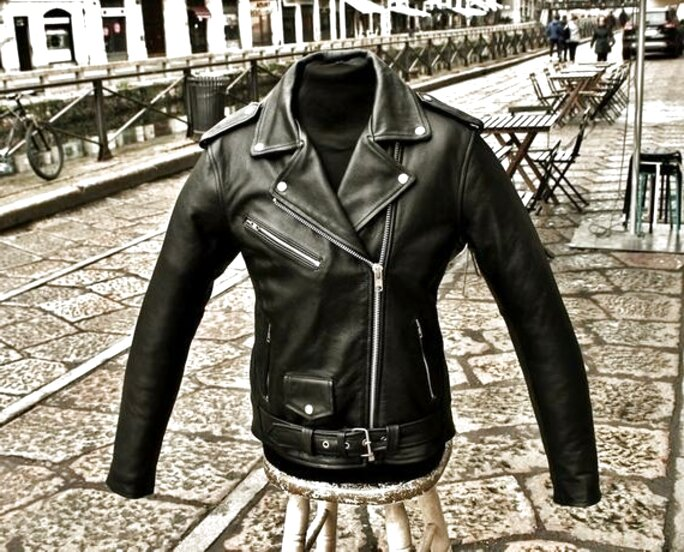 Gaudi-Leathers Motociclista Gilet in pelle Biker Giacca Moto