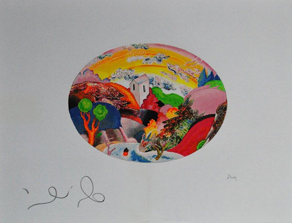 LUCA ALINARI serigrafia a 45 colori IL PRESTO E IL BENE