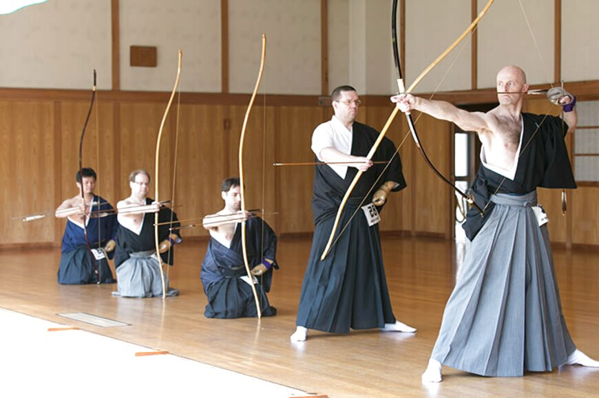 Kyudo yukage giapponese di tiro con l/'arco Guanti JAPAN NUOVO
