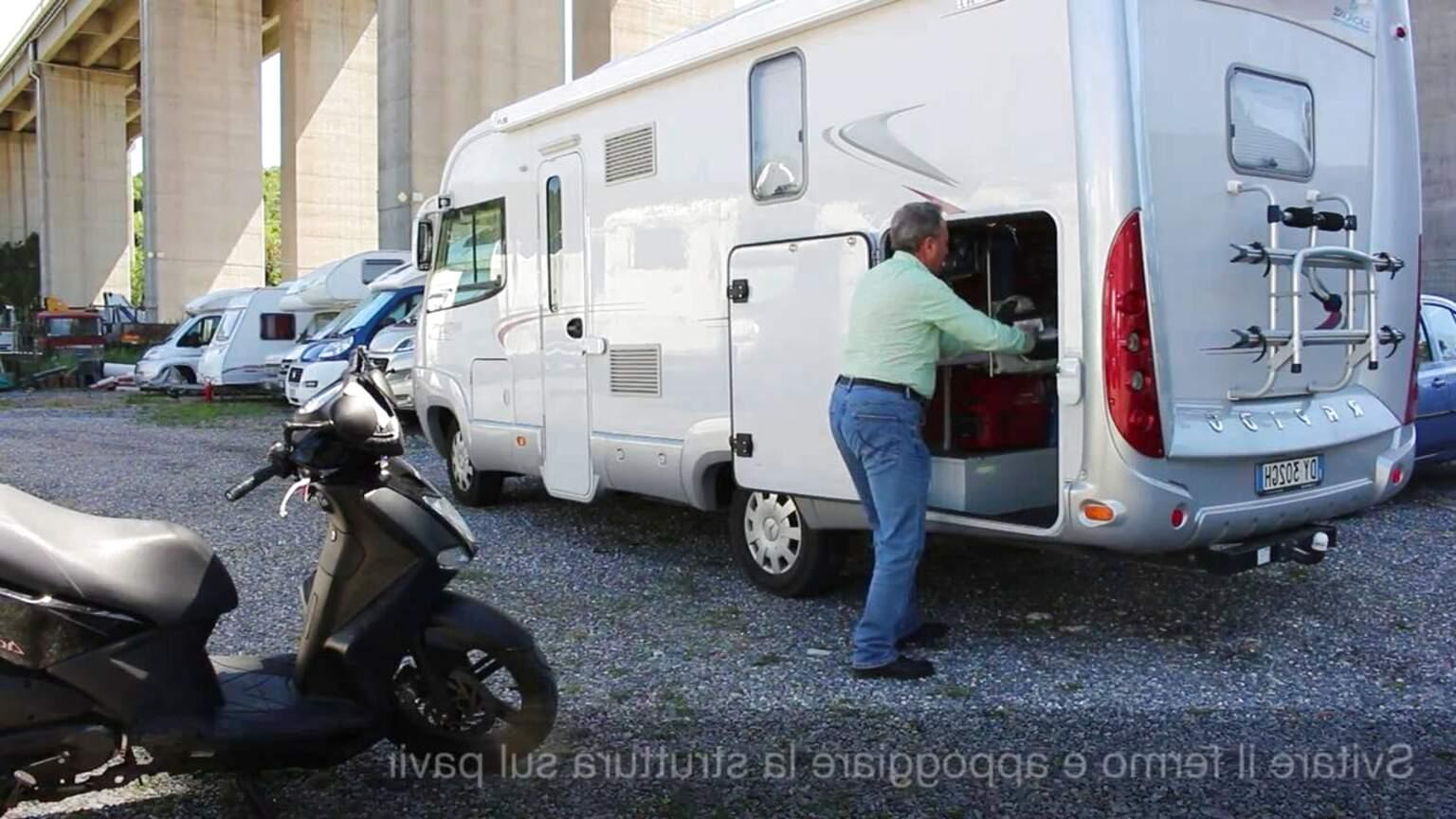 porta moto camper garage usato