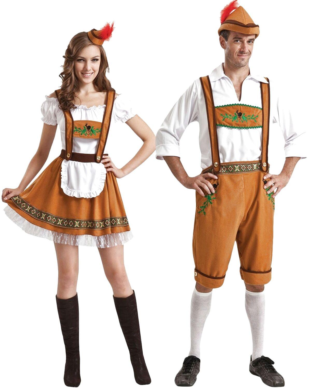 Tirolese Lederhose-Costume per Uomo Carnevale Oktoberfest Baviera
