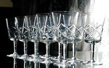 bicchieri cristallo antico usato