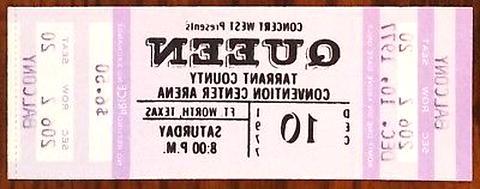 queen concert ticket usato