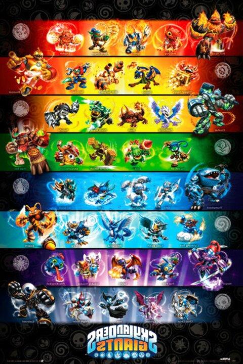 Skylanders Spyro Giants serie completa di 8 tutti gli elementi Inc NINJINI