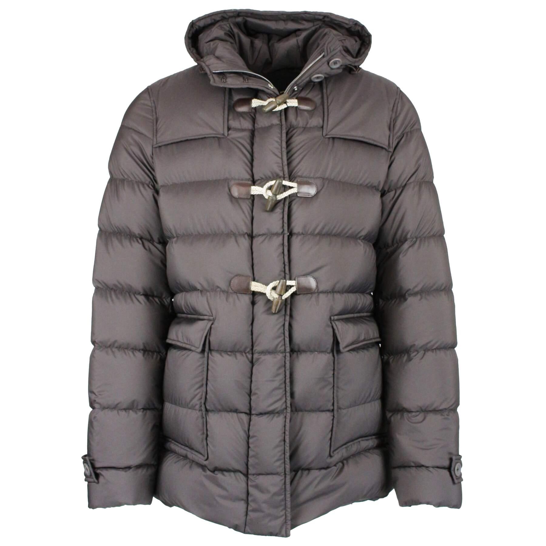 Bottoni alamari LEGNO cappotto montgomery maglia cardigan pattina in ecopel BLU
